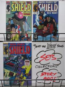 NICK FURY AGENT OF SHIELD (Marvel,1989) #27-29, VF-NM complete story w/WOLVERINE