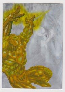 1995 Fleer Ultra Spider-Man Holoblast #4 Iron Man vs Venom