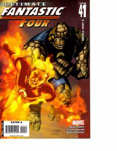 Lot Of 5 Ultimate Fantastic Four Marvel Comic Books #41 42 43 44 45 Thor   BF3