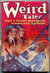 Weird Tales April 1935- Brundage cover- Eando Bender G