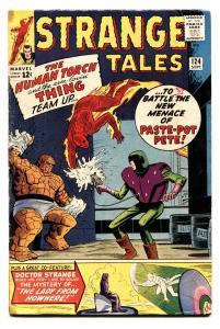 STRANGE TALES #124 comic book 1964-DR STRANGE--HUMAN TORCH THING VG