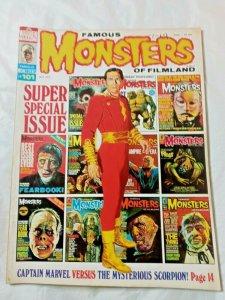 Warren Famous Monsters Of Filmland #101 Super Special Issue 1973 Captain Marvel