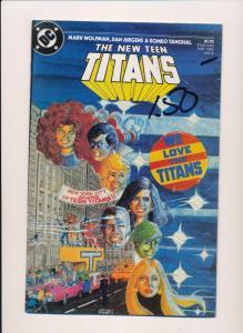 DC The NEW TEEN TITANS #6 1985  NEAR MINT (SRU663)