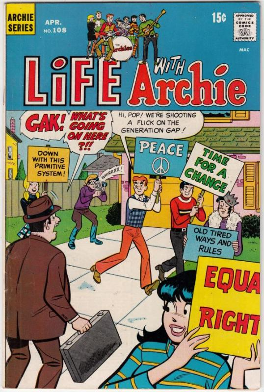 Life with Archie #108 (Apr-71) VF/NM High-Grade Archie, Jughead, Betty, Veron...