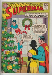 Superman #166 (Jan-64) FN+ Mid-High-Grade Superman, Jimmy Olsen,Lois Lane, La...