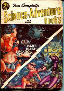 Two Complete Science-Adventure Books-Spring 1953-Kelly Freas-James Blish-VG