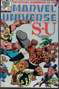 Marvel Universe #11 (Marvel, 1983) NM