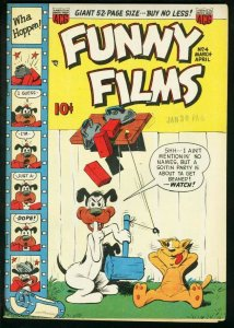 FUNNY FILMS #4 1950-ACG COMICS-FUNNY ANIMALS-- HY GRADE VF+