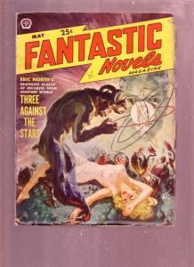 FANTASTIC NOVELS MAY 1950 PULP-SAUNDERS GOOD GIRL ART VG