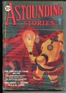 ASTOUNDING STORIES 02/1931-CLAYTON-UNDERWATER HORROR-HW WESSO-vg