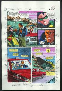 ROBIN #4-1990 PRODUCTION ART-COLOR GUIDE PG 6-TOM KYLE VG