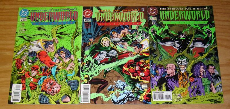 Underworld Unleashed #1-3 VF/NM complete series MARK WAID dc comics set 2