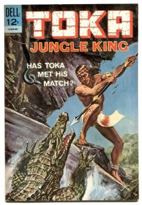 Toka Jungle King #2 1965- Crocodile & snake cover VF