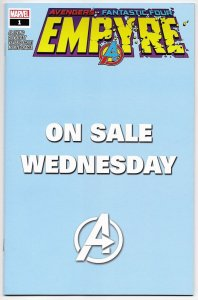 Empyre #1 Wednesday Variant | Unstamped | Avengers (Marvel, 2020) NM
