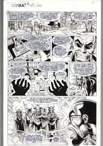 TOD SMITH--ELVIRA #165--JUMP IN---ORIGINAL ART PAGE 1-QUEEN 'B' PRODUCTIONS FN