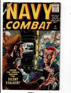 Navy Combat # 17 FN- Atlas (Marvel) Comic Book War Series Silent Stalker JL1
