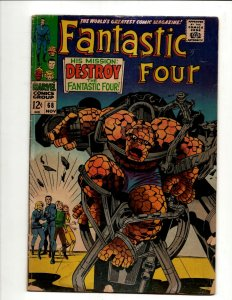 Fantastic Four # 68 VG Marvel Comic Book Thing Human Torch Dr. Doom BJ1