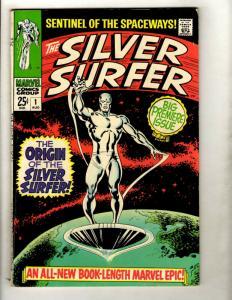 Silver Surfer # 1 FN- Marvel Comic Book Avengers Fantastic Four Galactus GK1
