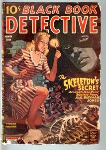BLACK BOOK DETECTIVE 1945 WINT-BLACK BAT-PULP-HERO PULP-RARE VG