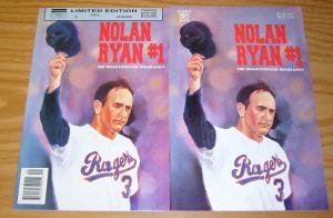 Nolan Ryan #1 VF/NM unauthorized biography + limited edition variant - baseball