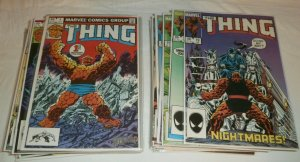 Thing V1 #1-36 (complete set) 1st Ms. Marvel #35 Fantastic Four comics lot of 36