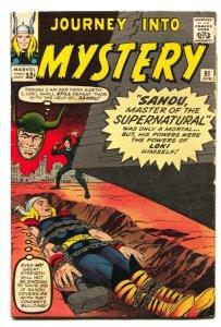 JOURNEY INTO MYSTERY-#91 1962-THOR-JACK KIRBY-MARVEL LOKI vg