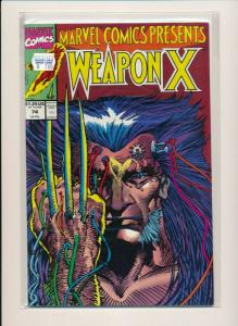 Marvel Comics WEAPON X #74 1991 FINE/VERY FINE (PF592)