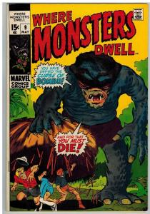 WHERE MONSTERS DWELL 9 F-VF May 1971