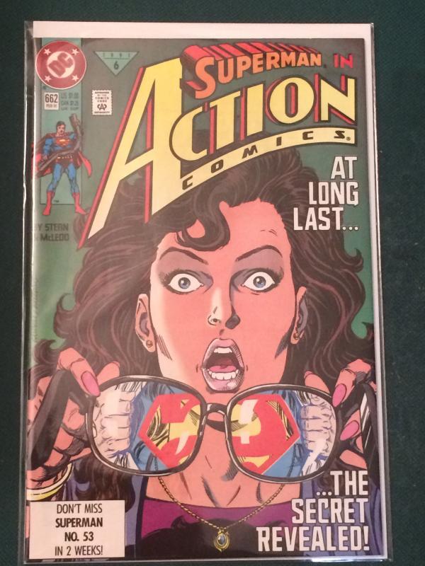 Action Comics #662 Clark reveals himself as Superman to Lois!