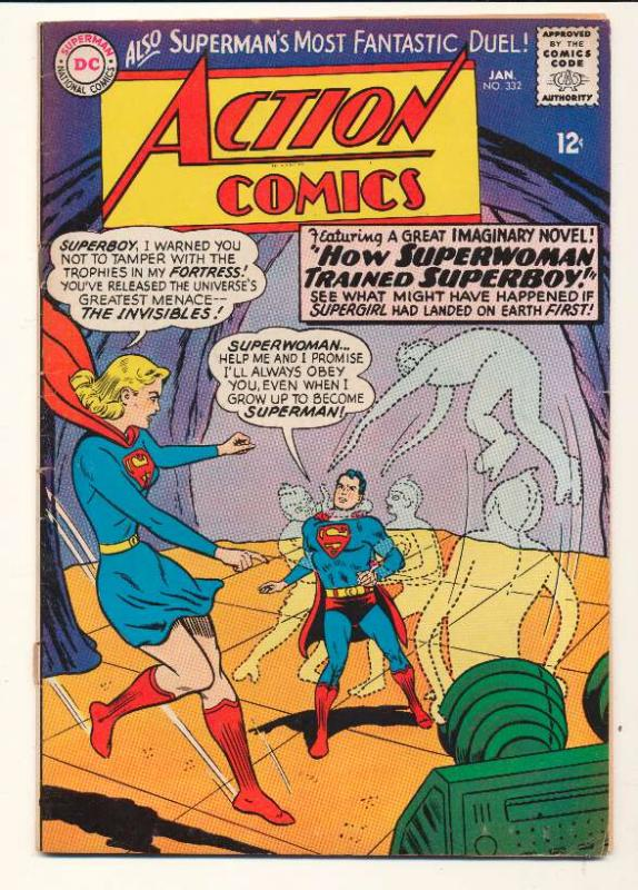 Action Comics (1938 series) #332, VF- (Actual scan)