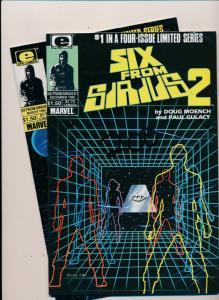 Epic Comics Set of 2-SIX FROM SIRIUS #1, #4 VERY FINE  (HX924)
