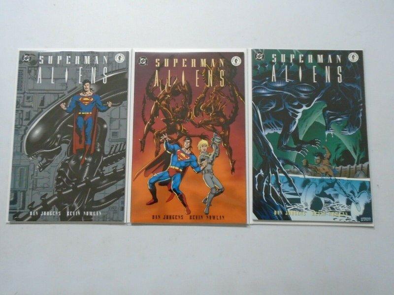 Superman Aliens Set: #1-3 8.0 VF (1995)