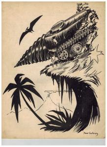 Barsoomian #7 January-April 1954 Burroughs Fanzine Dave Cockrum Tarzan Cover