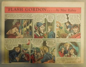 Flash Gordon Sunday Page by Mac Raboy from 8/30/1953 Half Page Size
