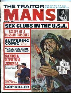Man's Magazine August 1966-Art Carney- Glory Lee- Marie Mynh
