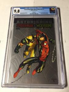 Astonishing Spider-man Wolverine 1 Cgc 9.8 White Pages Foil Variant