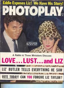 Photoplay-Liz Taylor-Richard Burton-Rock Hudson-Vince Edwards-Grace Kelly-Jul-19