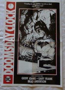 DOOMSDAY CLOCK  Promo poster, 16 x 18, 2017, DC, BATMAN Unused   016