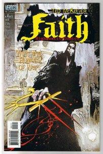 FAITH #4, NM+, Ted McKeever, Vertigo,1999, War Rumors, more Vertigo in store