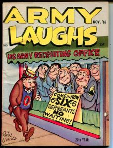 Army Laughs 11/1965-Crestwood-Pete Wyma-cartoons-gags-jokes-VF-