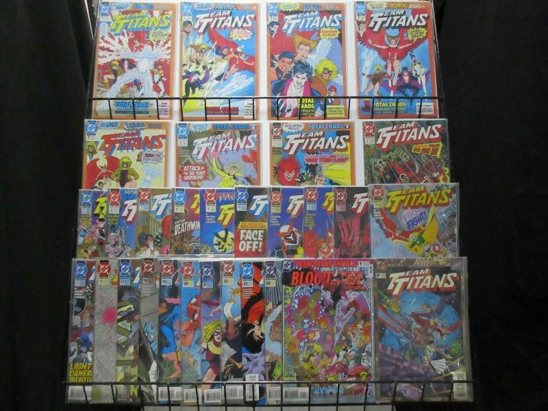 TEAM TITANS (1992) 1A-1E,2-24,ANN 1-2  COMPLETE!