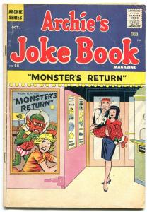 Archie's Joke Book #58 1961- Monster's Return- Horror movie poster VG-
