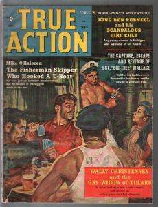 True Action 8/1960-card game-war-crime-Hitler-cheesecake-G/VG