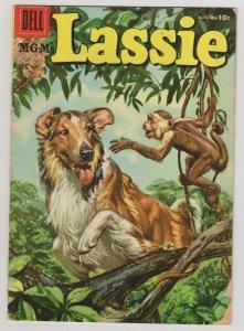 MGM'S LASSIE #28 1956 DELL COMICS