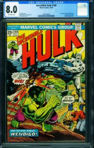 INCREDIBLE HULK #180 CGC 8.0 - 1974-1st WOLVERINE-BRONZE KEY- 1465168001