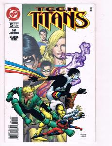 Teen Titans #5 VF DC Comics Comic Book Jurgens Perez 1996 DE14
