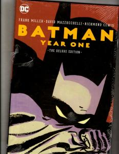 Batman Year One Deluxe Editio DC Comics HARDCOVER Graphic Novel SEALED Book J347