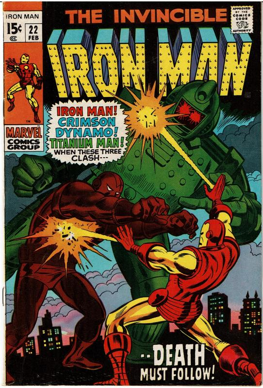 Iron Man #22, 6.0 or Better