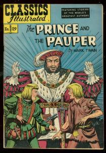 CLASSICS ILLUSTRATED #29 HRN 60-PRINCE AND PAUPER-TWAIN FN/VF