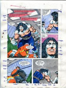 Justice Machine #24 Page #16 1988 Original Color Guide